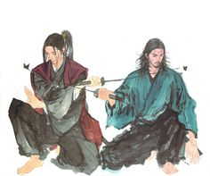 I did not draw this nor do I own vagabond. I just edited the two pictures together Vagabond manga is (c) Takehiko Inoue Vagabond Manga Artist, Comic Artist, Manga Vagabond, Art Anime, Manga Anime, Inoue Takehiko, Miyamoto Musashi, Fire Art, Samurai Art