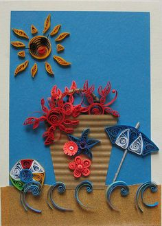 Quilled Beach Scene | Flickr - Photo Sharing!