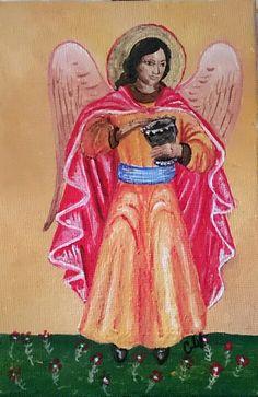 Engel, Acryl auf Leinwand  Angel, Painting