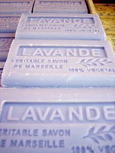 Lavender:  Lavender soap from the Isle sur la Sorgues Saturday Market.