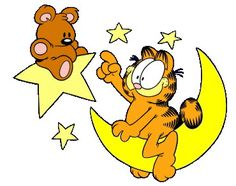 Garfield up in the sky with Teddy! Garfield Cartoon, Garfield Quotes, Garfield And Odie, Garfield Comics, Garfield Christmas, Garfield Pictures, Stitch Games, Cartoon Crazy, 1 Tattoo