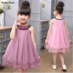 Cheap birthday party dress, Buy Quality girls ball gown dresses directly from China children clothing Suppliers: Kids Girl Ball Gown Dress 2017 Toddler Girl Summer Lace Dress 2 4 6 8 Year Princess Birthday Party Dress Children ClothingThis Pin was di Kids Frocks, Frocks For Girls, Dresses Kids Girl, Girls Party Dress, Kids Outfits, Fashion Kids, Fashion Design, Baby Tulle Dress, Tutu