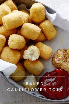 Baked Cauliflower Tots. And 8 other ways to win the Super Bowl--without losing your waistline.