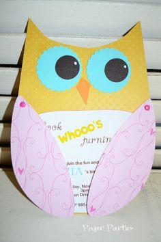 Loving the Owl design.....birthday invites? I think YESSS