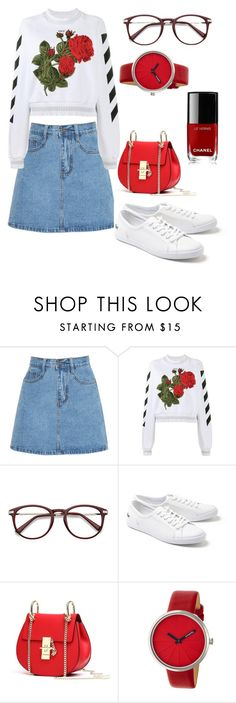"""""""Untitled #87"""" by martinovica-official ❤ liked on Polyvore featuring Off-White, Lacoste, Simplify and Chanel"""