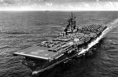 USS Shangri-La (CV-38) as seen in 1945