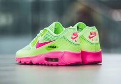 Nike Junior Air Max 90 BR Ghost Green Pink Blast Junior Trainers