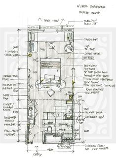 Hotel Floor Plan, House Floor Plans, Resort Plan, Tiny House Layout, Architectural Floor Plans, Interior Design Layout, Hotel Room Design, Apartment Floor Plans, Spa Rooms