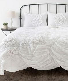 Take a look at this White Hush Queen Comforter Set by Rizzy Home on #zulily today!