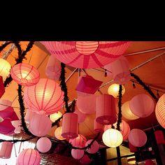 Pink themed lanterns