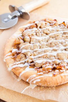 Apple Pie Pizza for two @DessertForTwo