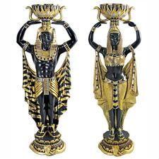 Cleopatra's Nubian Servants Statues