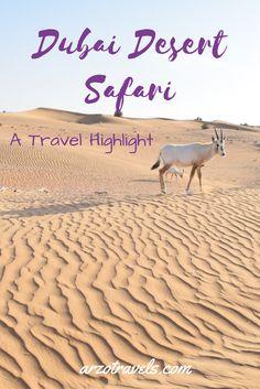 Travel Highlight in Dubai: A desert safari incl. a 4wheels dune drive, BBQ and many more things.