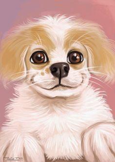 "My puppy dog ""Messi"" illustration,with photoshop #dog #puppy"