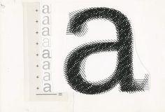 Design-is-fine - Adrian Frutiger, type design using the letter a, 1980-1996 - Museum für Gestaltung Zürich,1+2+3