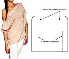 Las mujeres se destacan por su ingenio y creatividad a la hora de vestir bien y de lo más simple pueden crear una hermosa prenda. Para realizar esta espectacular blusa no se necesita ser experto e…