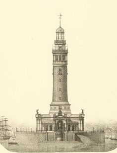Design for a lighthouse in renaissance style, c. 1880