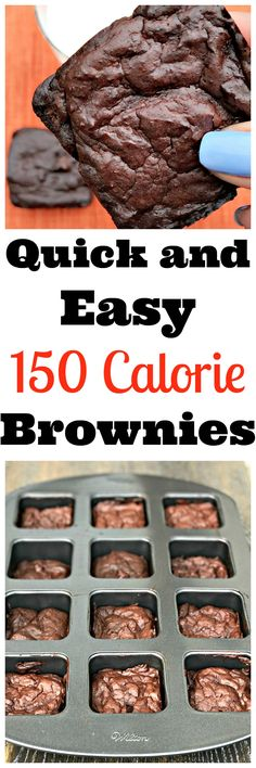 150 cal low-calorie healthy brownies are gluten-free and dairy-free loaded with Greek yogurt, applesauce, and chocolate chips. Quick and easy recipe.