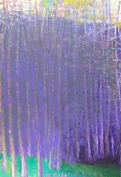 Wolf Kahn, Pink Sky, Purple Trees -- love the colors and feel of this painting