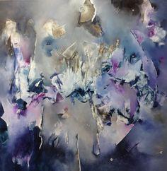 """Emoción apocalíptica"" - Bimbi Larraburu - Óleo sobre tela - 100 x 100 cm.  www.esencialismo.com"