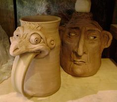 This would be a good clay sculpture assignment. Since it is more functional than a face jug it's potential use will motivate my students more to complete it.