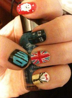Doctor Who Nail Art!