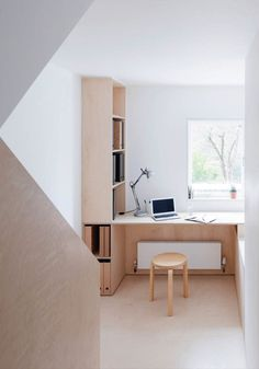 Plywood home office