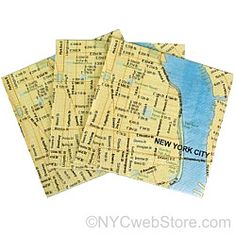 New York City Map Cocktail Napkins Having a party? Need party favors? These Subway Map Napkins are great for your event or party. And even better, these NYC cocktail napkins are available at a great p New York Theme Party, Bachelorette Party Planning, New York City Map, New York Subway, Cocktail Napkins, Beverage Napkins, I Love Ny, Party Needs, Party Themes