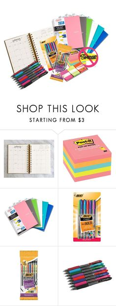 """""""school supplies"""" by andtodaystheday on Polyvore featuring interior, interiors, interior design, home, home decor, interior decorating and Five Star"""