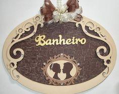 PLACA BANHEIRO