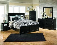 Ashley Furniture Cavallino Bedroom Set with Mansion Poster Bed ...