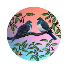 Two Kereru by Anna Evans - Art Prints New Zealand Anna Evans, Evans Art, Wall Art For Sale, Spring Collection, New Zealand, Art Prints, Artist, Art Impressions, Artists
