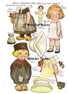 Dolly Dingle in Holland Paper Dolls - Digital Download
