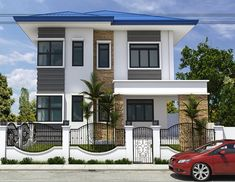 11 House Exterior Elevations to Inspire Home Owners To Be Simple House Exterior Design, House Outside Design, Dream House Exterior, Modern House Design, 3 Storey House Design, Two Story House Design, Philippines House Design, Philippine Houses, Modern Bungalow House