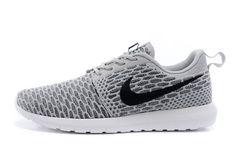3b41eb0ca0d Discounted Nike Adidas Puma Air Jordan Shoes Online Store Hot Sale 2015 Nike  Roshe Run FlyKnit Mens Womens Gray Black -