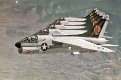 """VA-25 """"Fist of the Fleet"""" flying A-7B Corsairs in 71 or 72"""
