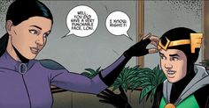 Kate Bishop speaks for all the Hawkeyes when she shares her feelings on Loki. (Young Avengers #8)