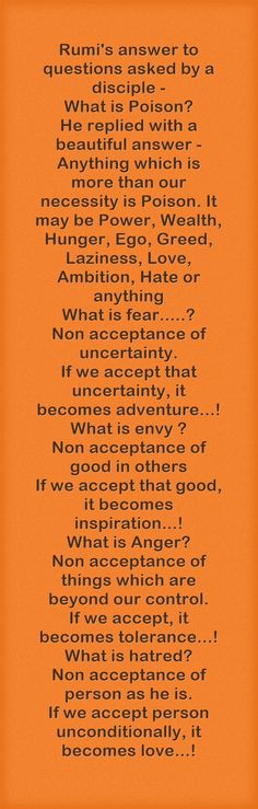 Acceptance of uncertainty is key to live when you are forced to live in ruins Rumi Poem, Rumi Quotes, Spiritual Quotes, Life Quotes, Inspirational Quotes, Kahlil Gibran, Carl Jung, What Is Fear, Character Quotes