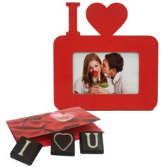 Make her/his day! Send your special someone a charming gift of a beautiful 9 x 9 inch I love red wooden photo frame with a love messege on the chocolate with Ferns n Petals that will surely delight. Let the gift create heartwarming feeling that reminds her/him how special they are. http://www.fnp.com/valentine/
