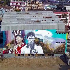 Helen Bur & Erin Holly in Mokokchung, India, 2020 Street Art London, India, Goa India, Indie, Indian
