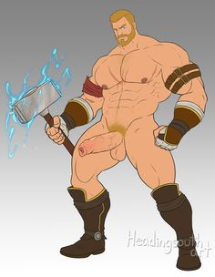 "headingsouthart: "" Thor, Marvel vs Capcom infinite from Patreon """