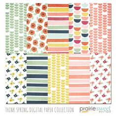 Think Spring Digital Papers $6 for 10 gorgeous papers!