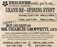 Image result for grand reopening invitation