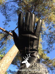 Black Leather Gloves - Women Style - Schwartz & von Halen