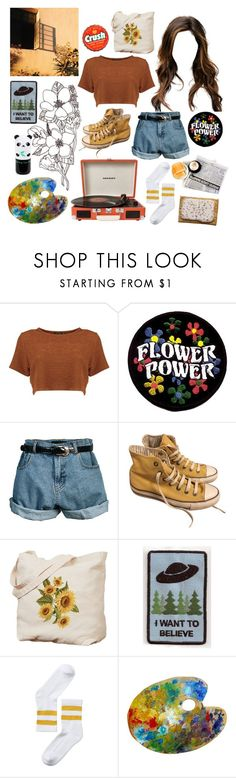 """♡ flower power ♡"" by hey-lolita ❤ liked on Polyvore featuring Retrò, Converse, Crosley, Monki and Tony Moly"