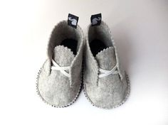 Children house shoes wool felt children clothing by svantjeshop, €28.90