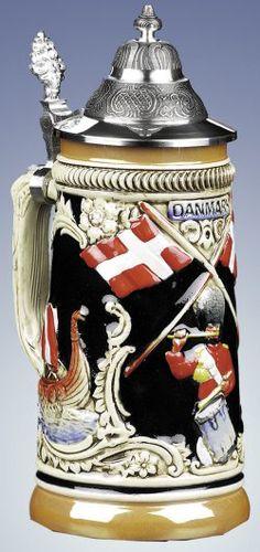 Denmark Beer Steins - Authentic Beer Steins from Germany - 1001BeerSteins.com