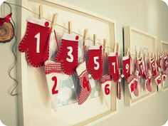 Pretty sure I'm going to make these, maybe just of construction paper and not felt, for our advent calendar for the kiddos this year.