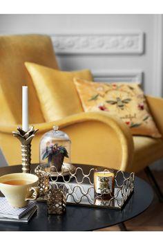 Metallbricka med spegelglas - Guld - Home All | H&M SE 1