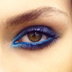 blue + purple eyes   Tom Pecheux Elie Saab ss2015   #makeup   @invokethespirit